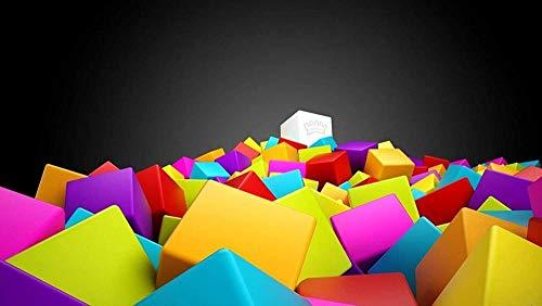 Rompecabezas Puzzle 500 Piezas 52 * 38 CM, Cubo De Color,Juguetes Educativos Puzzles Rompecabezas Madera Los Para Infantiles.