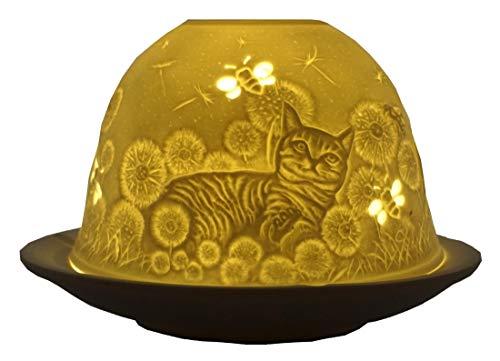 CBK-MS Dome Light Hauskatzen Katzen Kätzchen Teelicht Windlicht Teelichthalter Kater
