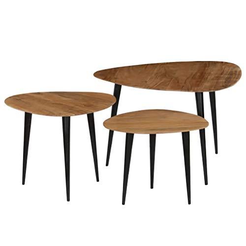 SOULONG Mesitas de café Mesa de Juego de mesas de Centro 3