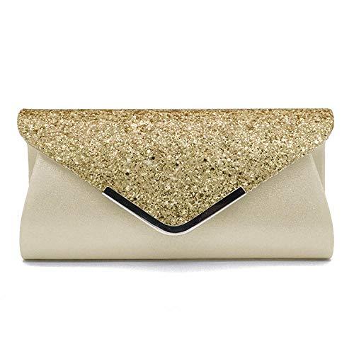 Sac À Main Fashion Lady Women Glitter Clutch Wallet Long Evening Wedding Wedding Purse Handbag Gold