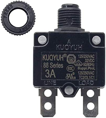 NEW Thermal Overload Circuit Breaker KUOYUH 88 Series 3-25A 125//250VAC 50//60Hz