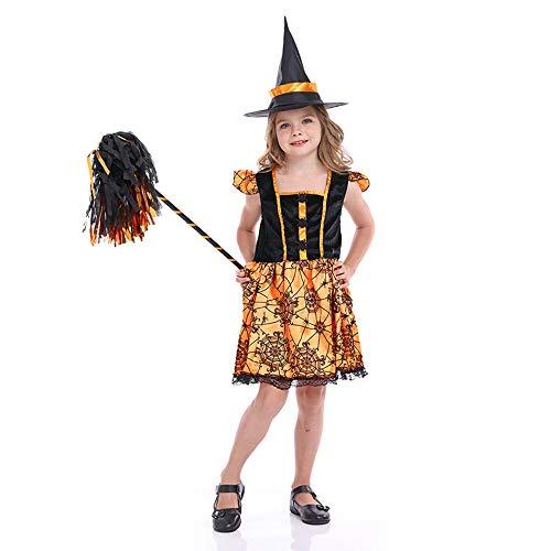 Disfraz de Halloween para niños Niñas Cos Bruja Calabaza Princesa Traje de murciélago araña Disfraz de Cazador de Brujas