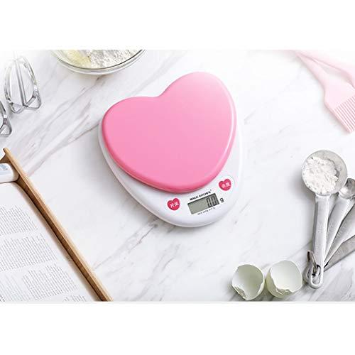 Básculas Escala electrónica pequeña de plástico/Comida doméstica para cocinar Cocina Digital/Herramientas para Hornear Pantalla LCD HD