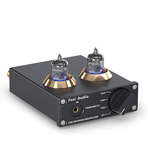 Fosi Audio Phono Preamp for Turntable Preamplifier MM Phonograph Preamplifier