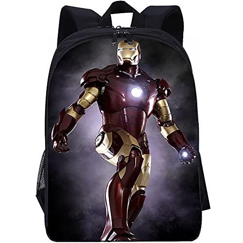YITUOMO Mochilas para la escuela Mochilas de Iron Man guapo para niñas, mujeres, niños, adolescentes, niños pequeños, mochila de moda, mochila de viaje, bolsa para computadora portátil