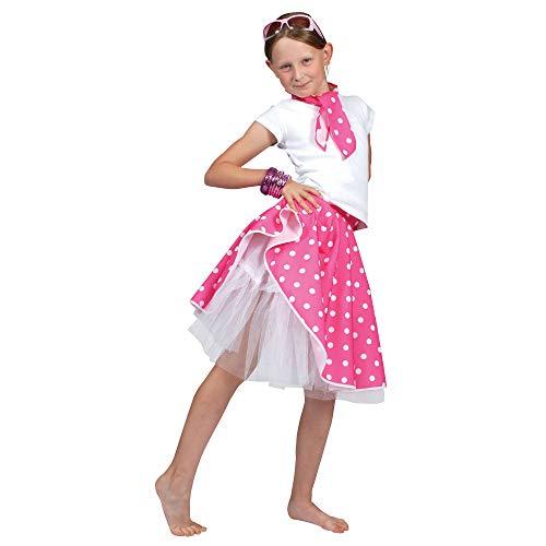 Desconocido Falda rock n roll para disfraz de niña  color rosa
