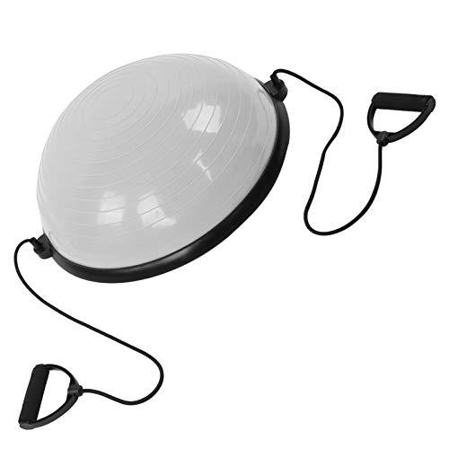 Astibym Entrenador de Media Bola, Material de PVC Entrenador de Equilibrio de Media Bola para Accesorio de Yoga para Salto de montaña(Gris)