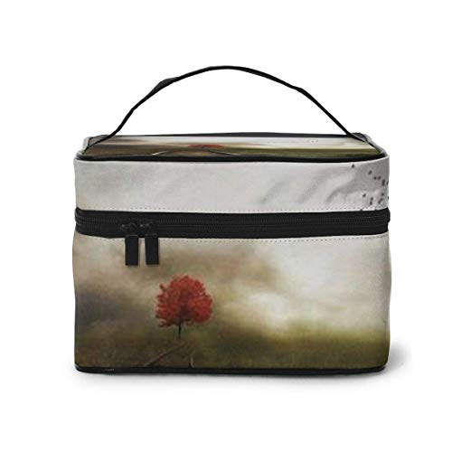 Train Track Travel Cosmetic Case Organizer Portable Artist Storage Bag, Multifunction Case Toiletry Bags
