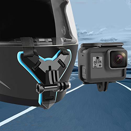 Balight Casco de la Motocicleta Barbilla Soporte de la Correa Ajustable para GoPro Hero 7/5 para Xiaoyi Accesorios de cámara de acción