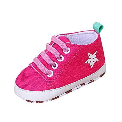 Zapatos para bebé para aprender a andar, suaves, zapatos para bebé, niños, niñas, antideslizantes, zapatos con suela suave, tela suave con suela antideslizante, Rosa., 12