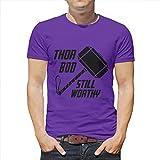 BOBONC Herren BOD Immer noch würdig T-Shirt Printed Size Tall T-Shirt Workout Gym Short Sleeve Tee Everyday Top Purple m