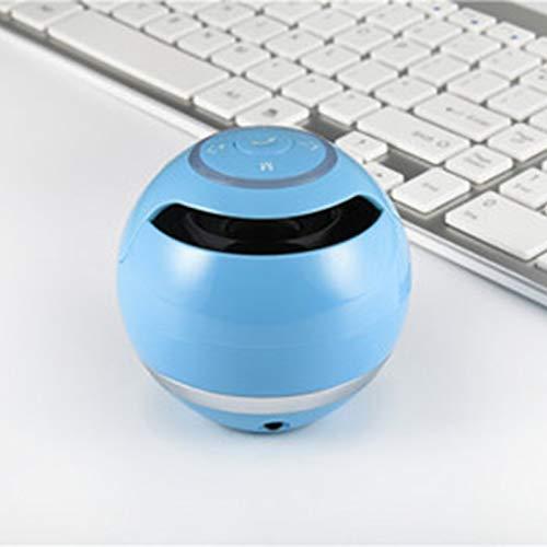 Tollk Lesse Bola Colorida con luz Bluetooth Altavoz Tarjeta Exterior Regalo Mini Altavoz 360 ° Efecto de Sonido estéreo Envolvente Altavoz Bluetooth Inteligente