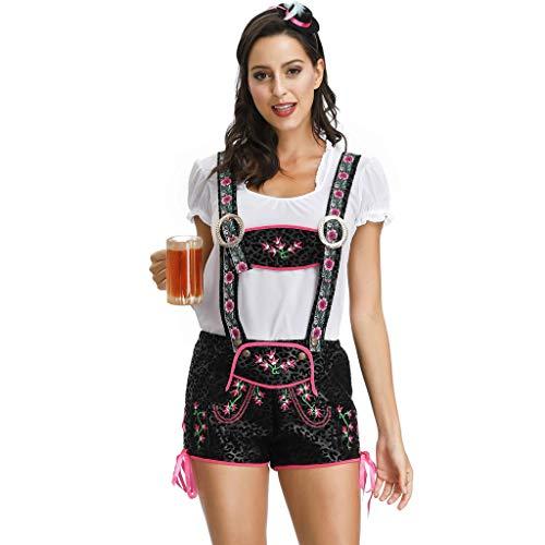 Lazzboy Frauen Bier Festival Anzug Magd Kleid Cosplay Kostüme Sexy Kostüm, Rollenspiel, Kostümparty, Party Verkleiden Sich Damen Große Größe(Weiß,M)