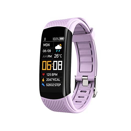 LSQ Más Nuevo C6T Smart Watch Sleep Ejercicio Ejercicio Step Tracker Temperatura Cuerpo Medición Pulsera Monitoreo De Presión Arterial, f