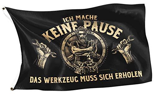 Gasoline Bandit Original Flagge für die Werkstatt - Ich Mache Keine Pause