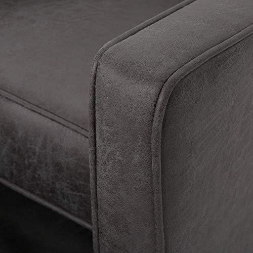 Christopher Knight Home Mervynn Mid-Century Modern Microfiber Recliners, 2-Pcs Set, Slate / Dark Espresso