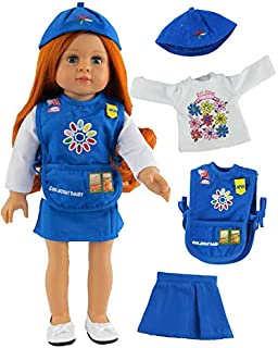 American Fashion World Girl Scout Daisy Outfit Made for 18 Inch Doll