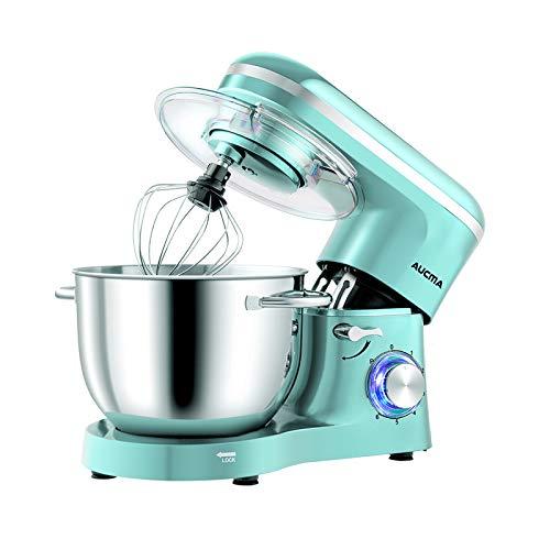 Aucma Impastatrice Planetaria da 1400W,Robot da cucina Mixer 6.2L, Miscelatore Cucina per uso alimentare, 6 Velocità Mixer Elettrico da Cucina con Gancio per Impastare, Frusta, Sbattitore, Tiffany