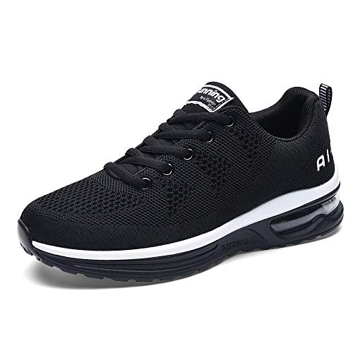 JARLIF Women's Lightweight Athletic Running Shoes Breathable Sport Air Fitness Gym Jogging Sneakers (9.5 B(M) US, Black)