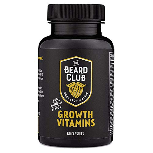 The Beard Club | Beard Growth Vitamins | Promote a Fuller and Thicker Beard | Multi-Vitamin with Biotin and Minerals that Support Hair & Beard Growth