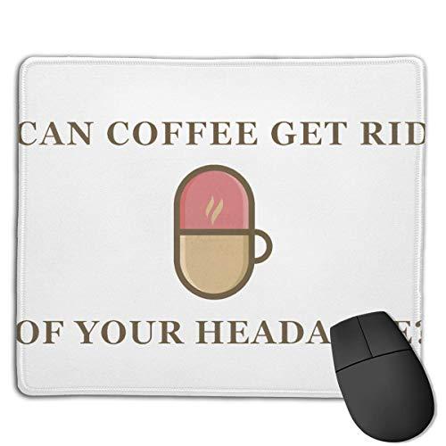 Tragbares Gaming-Mauspad Kann Kaffee Ihre Kopfschmerzen loswerden Bequeme rutschfeste Basis Langlebige genähte Kanten für Laptop-Computer