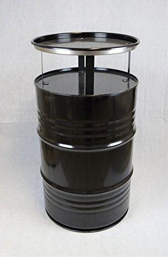 Fassmöbel Stehtisch Bistrotisch Tisch Design Partytisch Schwarz Ø 57cm Höhe 108cm / Glatter Glanz - Pflegeleichte Oberfläche