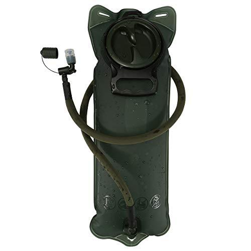 ACBungji Trinkblase 3L Wasserblase Hydration Bladder Trinkbeutel mit Beissventil BPA-frei Antibakteriell und Auslaufsicher für jeden Trinkrucksack für Wandern Campen Radfahren Armee Grün
