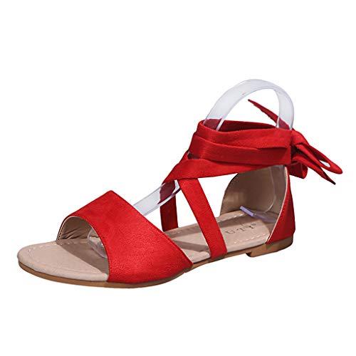UMore Damen Espadrilles Plateau mit Bändern zum Schnüren Sommer Peep Toe Sandalen Strandschuhe Schöne Sommerschuhe Elegante Sandaletten