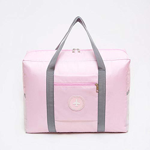 Travel Folding Luggage Thickened Waterproof Oxford Cloth Hand Storage Bag Bag Round Bag-Pink