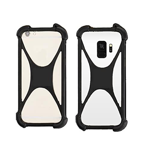 K-S-Trade Handy-Hülle Schutz-Hülle Kompatibel Mit Ruggear RG650 Silikon Bumper TPU Softcase Smartphone Stoßschutz, Schwarz