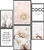 Papierschmiede® Mood-Poster Set Coco Blüten | Bilder als