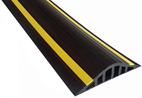 Weather Stop 40mm High Garage Door Threshold Seal Kit 2.21m (7'3') | Black/Yellow PVC | Complete Kit | Adhesive Included