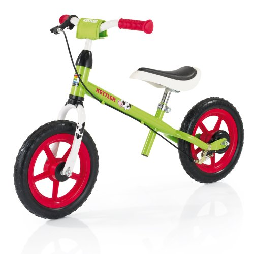 Kettler Laufrad Speedy Emma – das ideale Lauflernrad – Kinderlaufrad mit Reifengröße: 12,5 Zoll – stabiles & sicheres Laufrad ab 2 Jahre – grün & rot