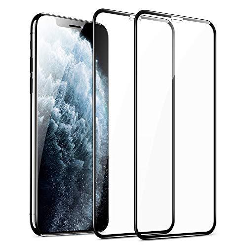 ESR Pellicola Protettiva Compatibile con iPhone 11 PRO Max/XS Max [2 Pezzi][Kit d'Installazione][3D Protezione Massima] [Copertura Totale] Proteggi Schermo in Vetro Temperato, Nero