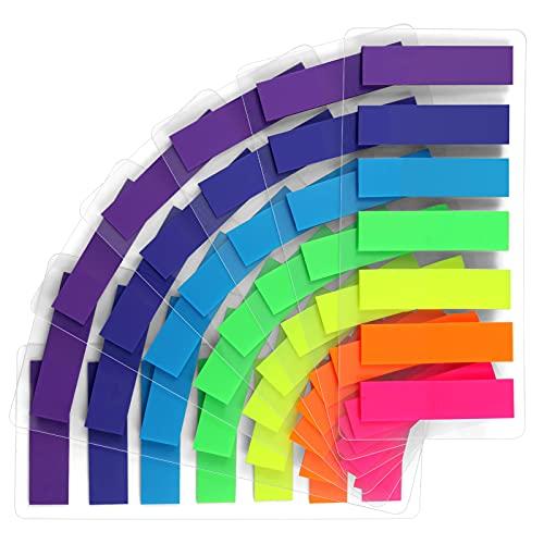 moinkerin 980 Piezas Notas Adhesivas Índices Marcadores adhesivos para Marcar Hojas Informes Libros(7 Colores)