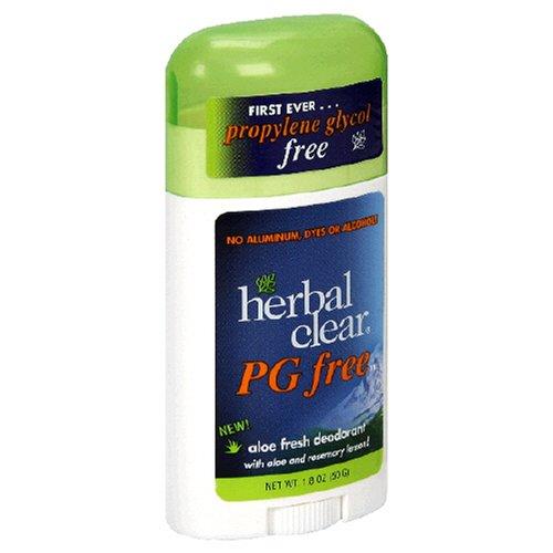 Herbal Clear Deodorant, Aloe Fresh, 1.8-Ounces (Pack of 4)