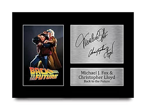 HWC Trading Back to The Future A4 Ungerahmt Signiert Gedruckt Autogramme Bild Druck-Fotoanzeige Geschenk Für Michael J Fox Christopher Lloyd Filmfans