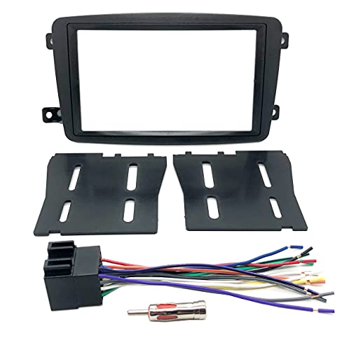 Double Din Aftermarket Radio Stereo Installation Dash Kit + Wire Harness & Antenna