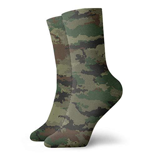Paedto Camuflaje Fondo militar Novedad Divertido calcetín de equipo loco Cool Unisex Calcetines deportivos deportivos 30 cm de largo Calcetines de regalo personalizados