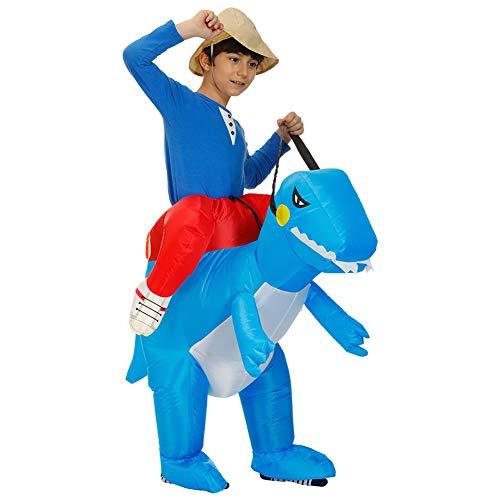 Qeedio - Disfraz de dinosaurio hinchable, traje de dinosaurio para cosplay, Halloween, fiestas de Navidad, para niños y adultos