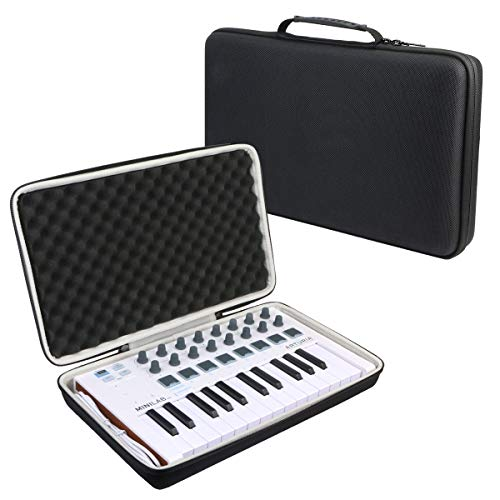 Khanka Hard Travel Case for Arturia MiniLab MKII Inverted MIDI Controller keyboard.(case only)