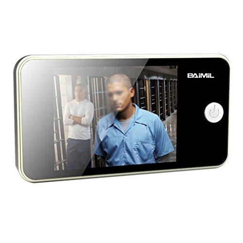 MALO 3.2 Inch LCD Display Video Recording Digital Door Peephole Viewer Wide Angle Security Digital Camera Black -