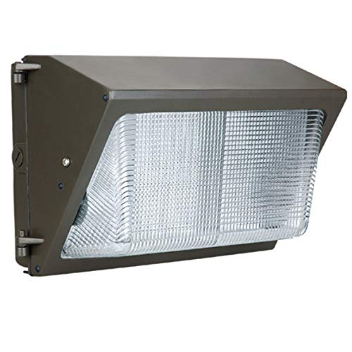 Direct-Lighting LED Wall Pack, 42W, 175-250W Equivalent, 5000K, 5150 Lumens, Outdoor Industrial-Grade, 100-277V, Dark Bronze, IP65 Waterproof, ETL Listed W4250KDB(42W)