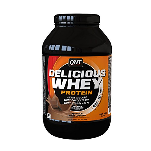 QNT Delicious 100% Whey Protein 1000 g Chocolate Growth and Recovery Shake Powder