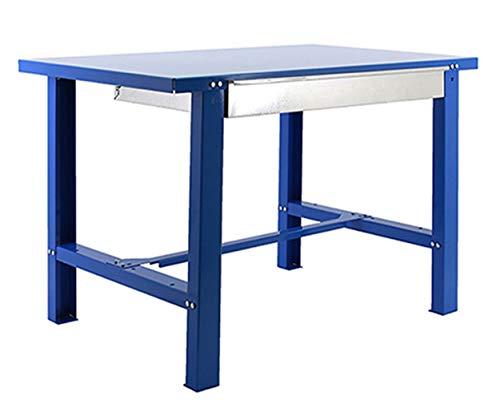 Banco de trabajo industrial con cajón BT6 Simonwork Metalic Azul Simonrack 830x1200x730 mms - banco de trabajo resistente 800 Kgs de capacidad por estante