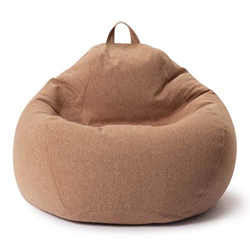 Lumaland Comfort Line XXL Sitzsack Indoor - 100x120x50 cm - Bodenkissen, Bean Bag Chair - 315 L - EPS Perlen Füllung - Braun