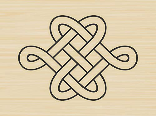 Celtic Knot Rubber Stamp by DRS Designs - Made in USA
