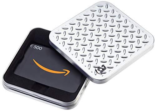 Amazon.de Geschenkkarte in Geschenkbox - 500 EUR (Metallmuster)