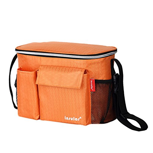 YiyiLai Wasserdicht Isolierung Tasche Multifunktional Baby Tasche Reisetasche Wickeltasche Orange