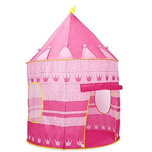 DXQDXQ Tent Prince or Princess Palace Castle Children kids Play Tent House Indoor or Outdoor Garden Toy House Playhouse Beach Sun Tent Boys Girls Quick Assemble Play Portable